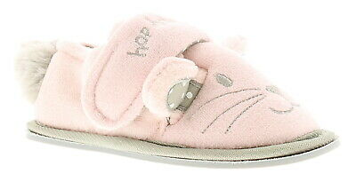 9551a169d NEW GIRLS/CHILDRENS PINK Bunny Slippers Touch Fastening UK Size ...