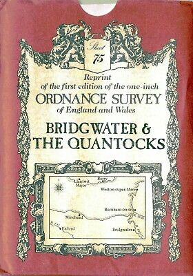 Ordnance Survey Map 75: Bridgwater Quantocks David & Charles Sheet map, folded