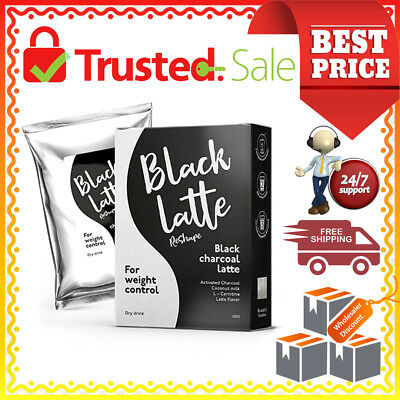 Black Latte Dry Drink 100g Black Charcoal Milk 100% Original