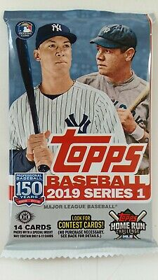 2019 Topps Series 1 Hobby 14 Card Pack MLB Autographs and Relics Available *