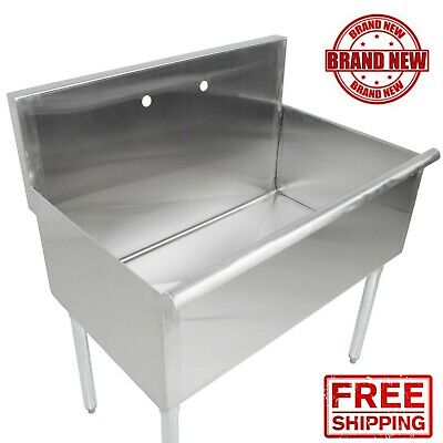 "36""36"" X 24"" X 14"" Bowl Stainless Steel Commercial Utility Prep 1 Sink"