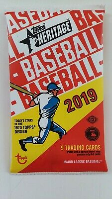 2019 Topps Heritage 9 Card Pack MLB Autographs and Relics Available *