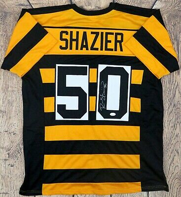 1987ae593b1 Ryan Shazier Autographed Pro Style Custom Throwback Jersey Jsa Authenticated