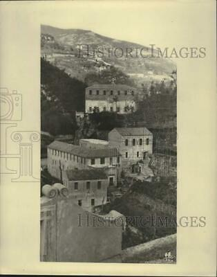 Press Photo Stone houses and narrow roads along Amalfi - Sorrento Drive,Italy