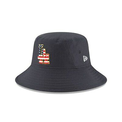 save off eabd2 67992 ... los angeles dodgers new era 2018 stars stripes 4th of july bucket hat  navy