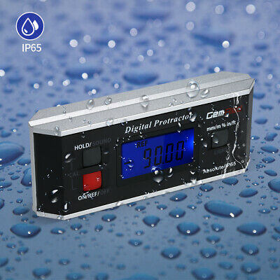 GemRed Level Box Angle Gauge Digital Angle Finder Inclinometer Magnet IP65 P3Y8