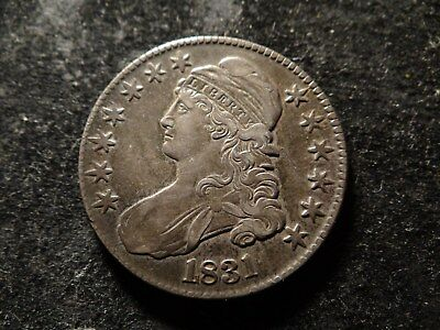 1831 XF AU Capped Bust Half Dollar Nice Coin HCX