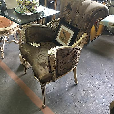 RARE Antique  Vintage 1930's Hollywood Regency Carved Art Deco Nouveau PR Chair