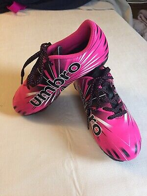8e9df9b614b Umbro Pink Girls Kids Youth Soccer Cleats size 11K style UMBYP17 Arturo 3.0