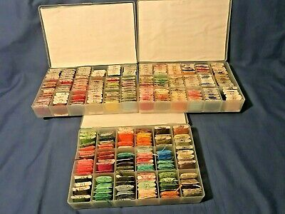 Lot of 280 DMC Skeins Embroidery Floss - Cross Stitch Thread on BOBBINS
