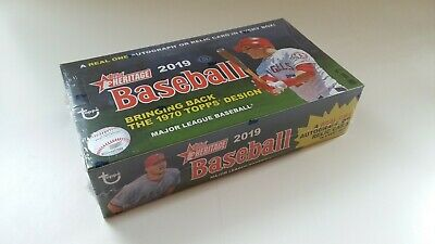 2019 Topps Heritage 24 Pack Box MLB Autographs and Relics Available *
