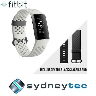 New Fitbit Charge 3 Special Edition Fitness Tracker - Graphite/White