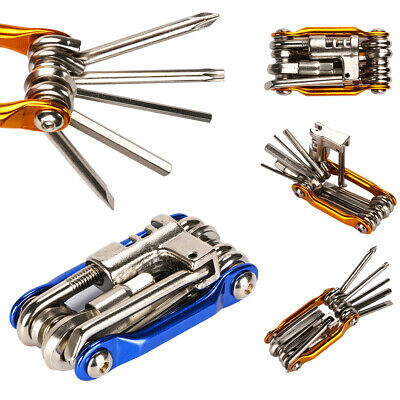 11 in 1 Bicycle Bike Allen Hex Keys Screwdriver Chain Link Multi-Tool MTB ROAD R
