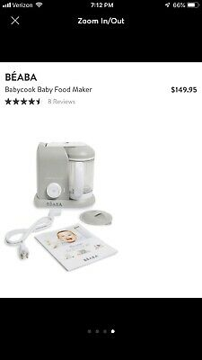 Beaba Babycook Pro Baby Food Maker and Steamer - White