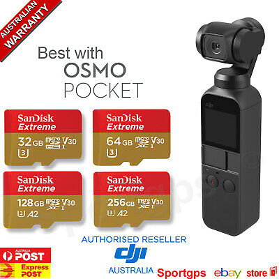 DJI OSMO POCKET HandHeld Stabilized Action Camera Gimbal 4K SANDISK SD Micro SD