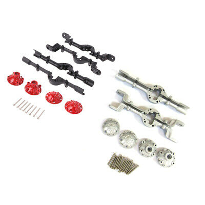 RC Car Spare Parts Metal Upgrade Front and Rear Axle Housing for 1/16 WPL