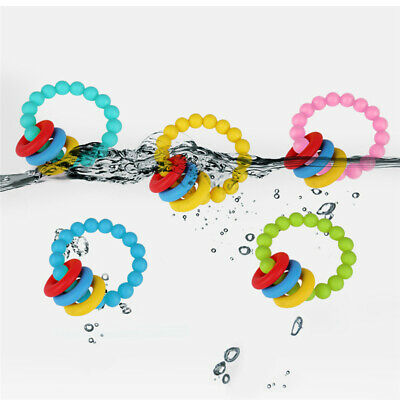 Kids Food-Grade Silicone Baby Teether Color Beaded Bracelet Baby Teether Toys OE