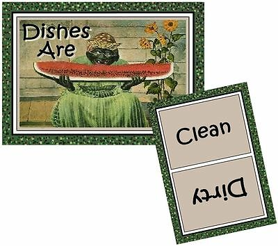 MAMMY WATERMELON  Dishwasher MAGNET (Clean/Dirty)  SHIP FREE!