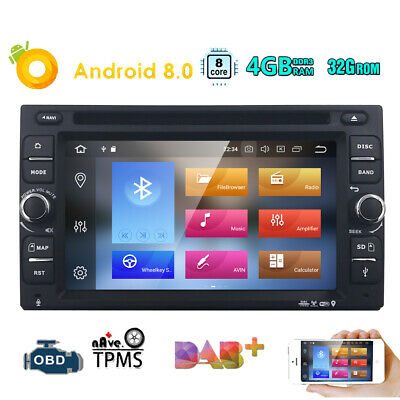 2Din 6.2'' Octa-Core Android 8.0 Car Radio Stereo DVD Player GPS Navigation WIFI