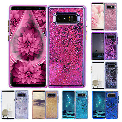 For Samsung Galaxy S10 Plus Liquid Glitter Quicksand Case Shockproof Back Cover
