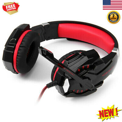 EACH G9000 3.5mm LED Stereo PC Gaming Headset Headphone with Mic For PC Xbox PS4