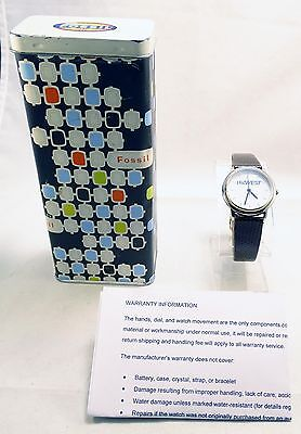 RARE MENS FOSSIL US WEST PROMOTIONAL PR-5004 LIMITED EDITION WATCH w ORIG TIN