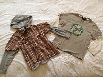 Lot Of 2 MINI BODEN Boys Long Sleeve T-shirts Sz 3-4y And 5-6Y Play Condition