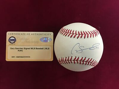 Balls Gary Sanchez Signed New York Yankees Rawlings Omlb Baseball Mlb Authenticated Baseball-mlb