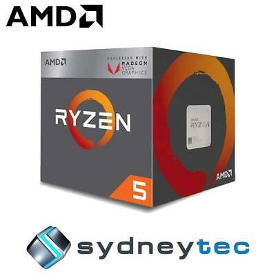 New AMD Ryzen 5 2400G 4-Core AM4 3.6GHz CPU Processor with Wraith Stealth Cooler