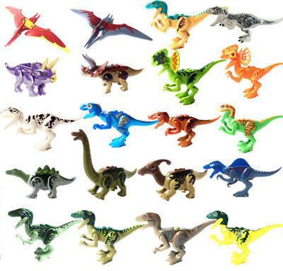 Figurines Dinosaures Jurassic World Blocks Figures Dinosaurs Compatible Lego