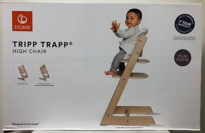 Stokke Tripp Trapp Baby High Chair with Baby Set Harness & Extended Glider NEW