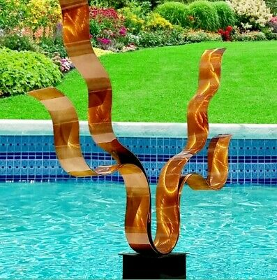 Statements2000 Metal Sculpture Large Abstract Copper Yard Art Decor by Jon Allen