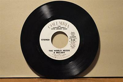 "Carter Family w/ Johnny Cash  The World Needs a Melody  Columbia WLP 7"" 45"