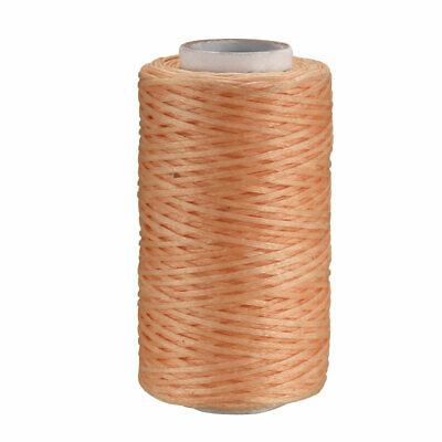 Leather Sewing Stitching Flat Waxed Thread String (150D 1mm 50M, Light Brown)