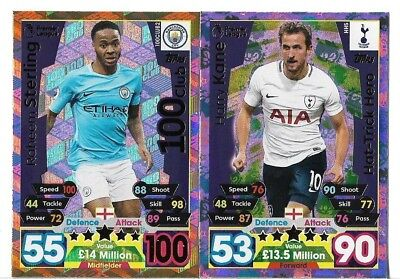 Topps Match Attax Extra 2017/18 Motm 100 Club And Hat Trick Hero Pick Cards Mint