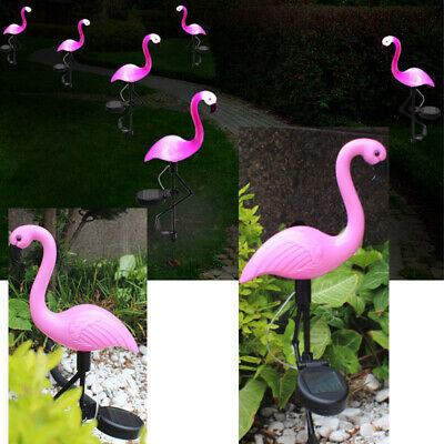 Garden Collection Pineapple or Flamingo Solar Stake Lights 2.3x4.2 Set of Four