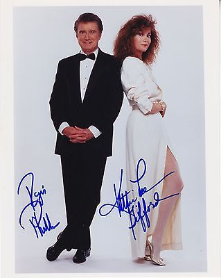 REGIS PHILBIN  ,  KATHY LEE GIFFORD hand signed 8x10 photo - color photograph