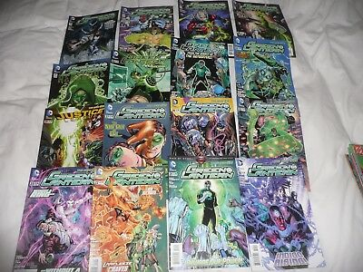 collection of 16 issues of the D.C comic THE GREEN LANTERN from 2012 to 2015