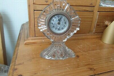 clock vintage mechanical  glass clock
