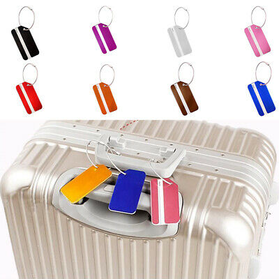 5PCS Luggage Tag Travel Suitcase Bag ID Tags Address Label Baggage Card Holder