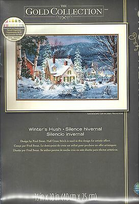 "Dimensions Gold Collection Stickpackung  "" Winter's Hush "",  in Kreuzstich, Neu"