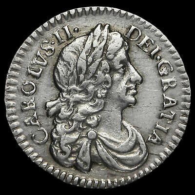1674 Charles II Early Milled Silver Maundy Twopence
