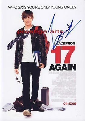 17 Again signed  movie poster  A4 Size