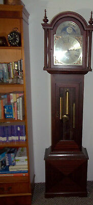 Mahogany Westminster Chime Longcase/grandfather Clock. Glazed Door See Weights