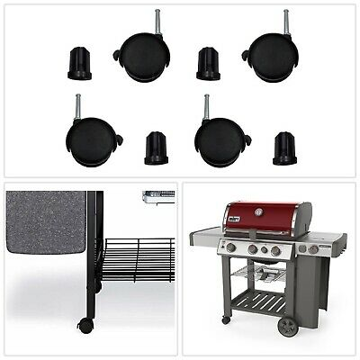 Cosmogrill 4+1 Deluxe Barbecue à gaz noir Barbecue Grill