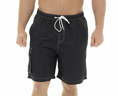 Tom Franks Mens Contrast Stitch Mesh Lined Summer Swimshorts