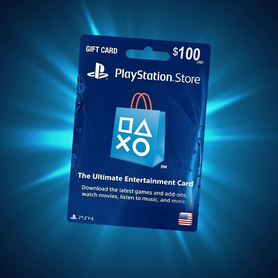 $100 PlayStation Network Psn Store Gift Card Usd ⚡⚡ Ps3 Ps4 Ps Us United States.
