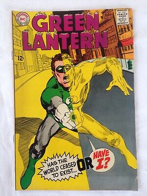 Green Lantern #63 (Sept 1968) 'Has The World Ceased To Exist' Grade 6.5 Fn+