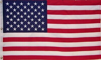 Heavy Duty Usa American Flag 3' X 5' Embroidered Stars - 600D Sewn Stripes