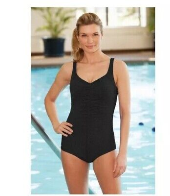 7fc7992822ba9 Krinkle Center Shirred Keyhole Back One Piece Chlorine Resistant Swimsuit  Size 8